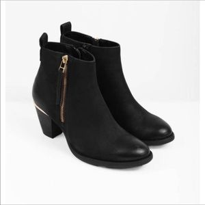 Steve Madden 'Wantaghh' Leather Booties   Black